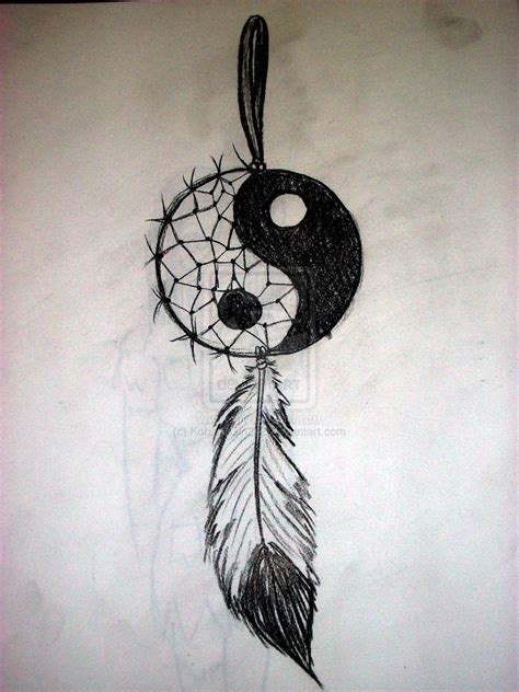 yin yang dreamcatcher tattoo yin yang dream catcher by kohanagirl222 on deviantart