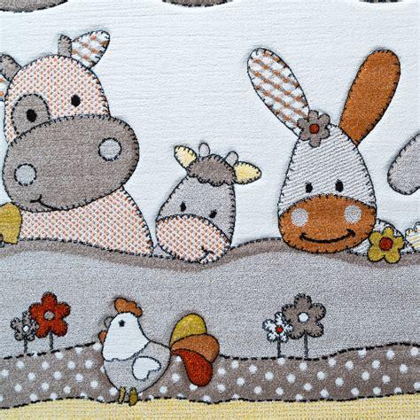 teppich tiere kinder teppich bauernhof design lustige tiere kinderzimmer
