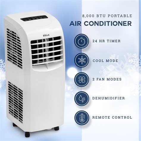 8,000 BTU Portable Air Conditioner Cooling A/C Cool Fan indoor w/ Remote, White 846183163794   eBay