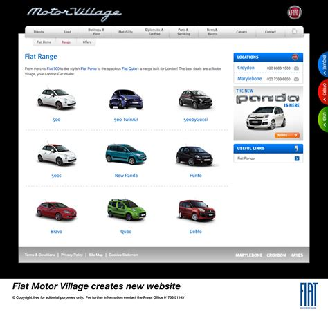 fiat motor creates new website for all brands all