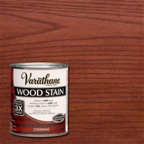 varathane 1 qt 3x cognac premium wood stain 271150 the