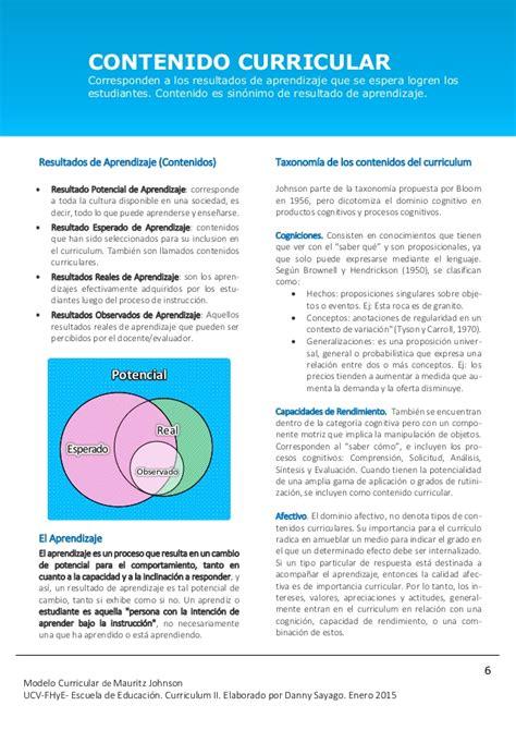 Modelo Curricular Lineal De Mauritz Johnson modelo curricular de mauritz johnson