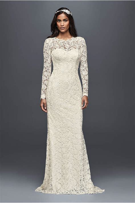 Wedding Dresses With Lace Sleeves by White By Vera Wang Sleeve Lace Wedding Dress David