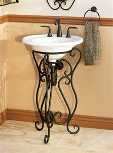 Console Vanity For Vessel Sink Single Sink Pedestals Bath Sink Consoles Wrought Iron
