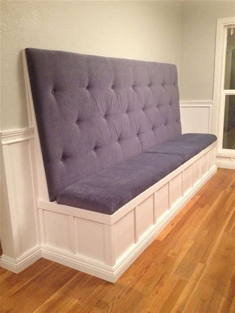 high back banquette bench built in banquet we used extra thick foam high density
