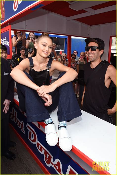 gigi hadid tattoo gigi hadid enjoys the carnival at tommypier photo