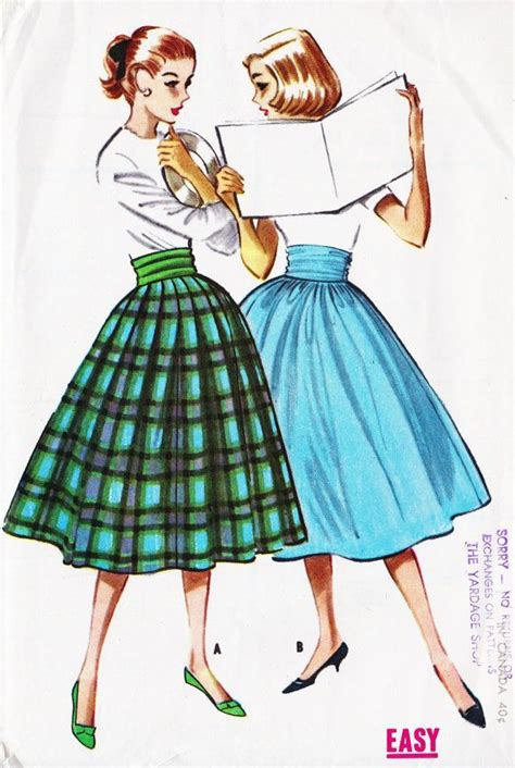 how to sew a swing skirt 1950 s rockabilly swing skirt vintage sewing pattern