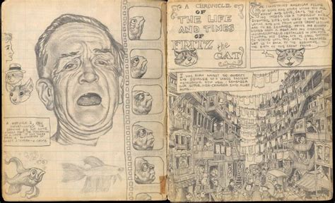 R Crumb Sketches by Early Sketchbook Of R Crumb Illustrations