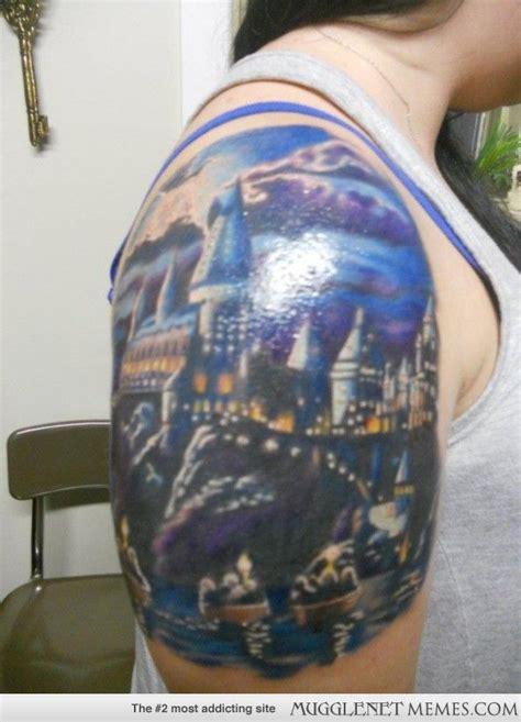 hogwarts tattoo hogwarts