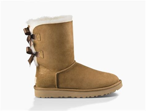 classic boots chestnut ugg bailey bow ii womens chestnut