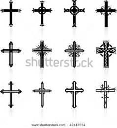 Original vector illustration religious cross design collection