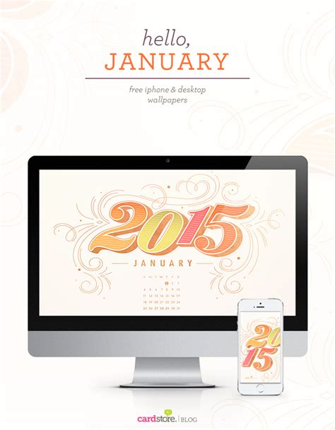 free wallpaper january 2015 hello january 2015 a free desktop calendar download