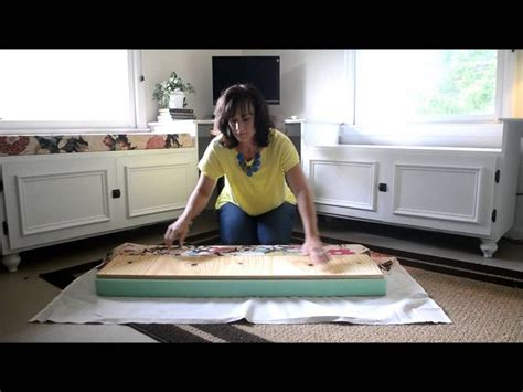 how to make a bench cushion window seat cushion diy pinterest