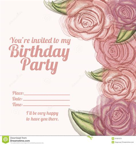 Vector Backgrounds With Roses For Invitations roses invitation birthday stock photo image 31301070