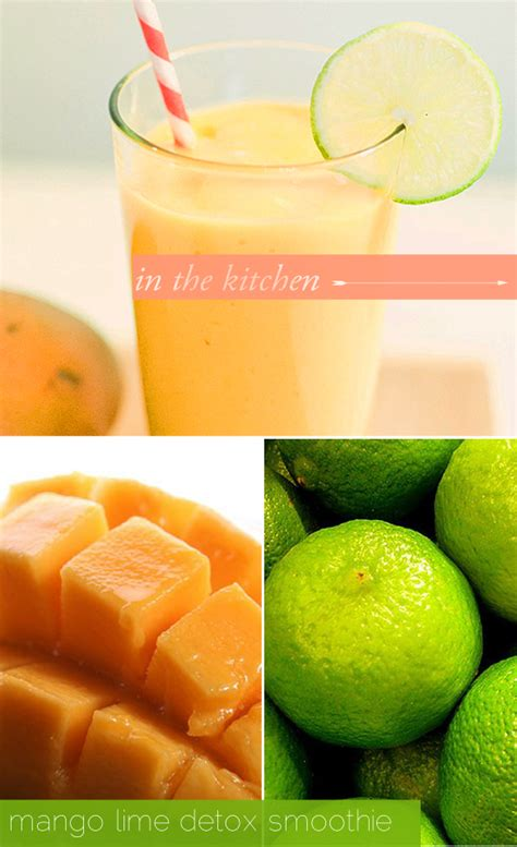 Mango Detox Smoothie by Chicological Welcome In The Kitchen Mango Lime Detox