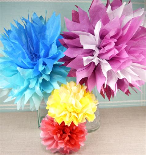 Make Tissue Paper Flower - 2 and a whole lot of pretty tissue paper flowers