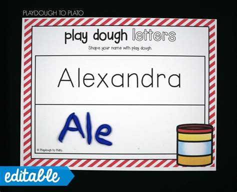 playdough mats booklet entire booklet printable editable name games playdough to plato