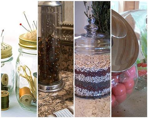 How To Decorate Glass Jars by Organizing And Decorating With Glass Jars