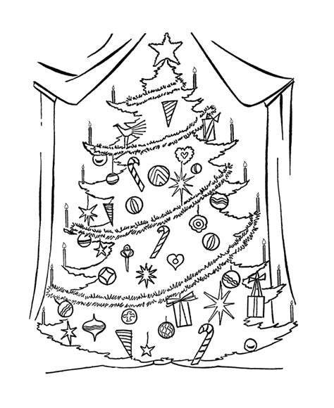 Big Coloring Pages For Christmas | big christmas tree coloring pages coloring home