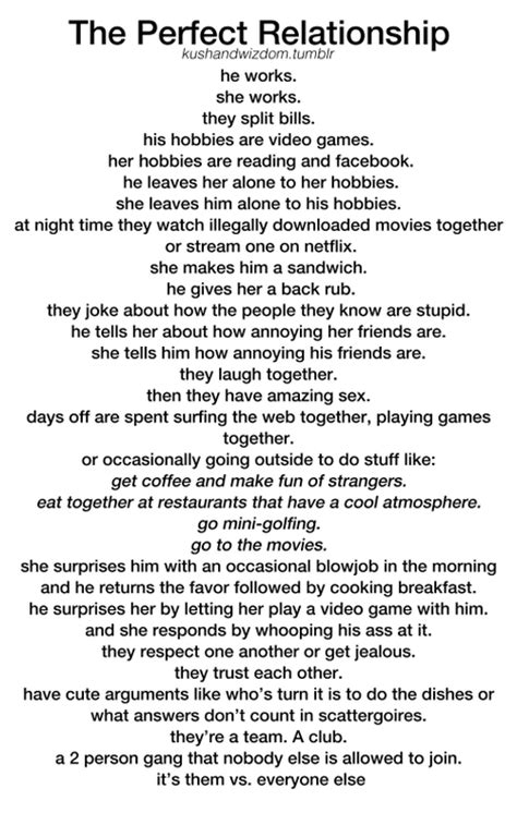 Perfect Relationship Meme - the perfect relationship the dreams of a college girl