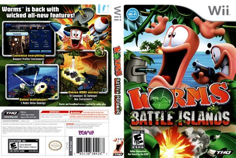 dvd format wii games worms battle islands nintendo wii game covers worms