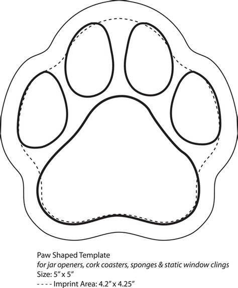 business card template shaped like a paw paw print template cliparts co