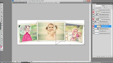 Free Facebook Timeline Cover Templates By Florabella Youtube Triptych Photoshop Template