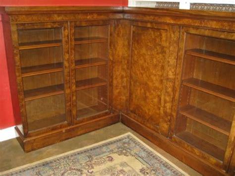 Walnut Corner Bookcase Large Walnut Corner Bookcase 123498 Sellingantiques Co Uk
