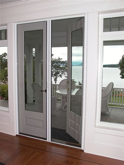 outswing patio doors with retractable screens doors with retractable screens door
