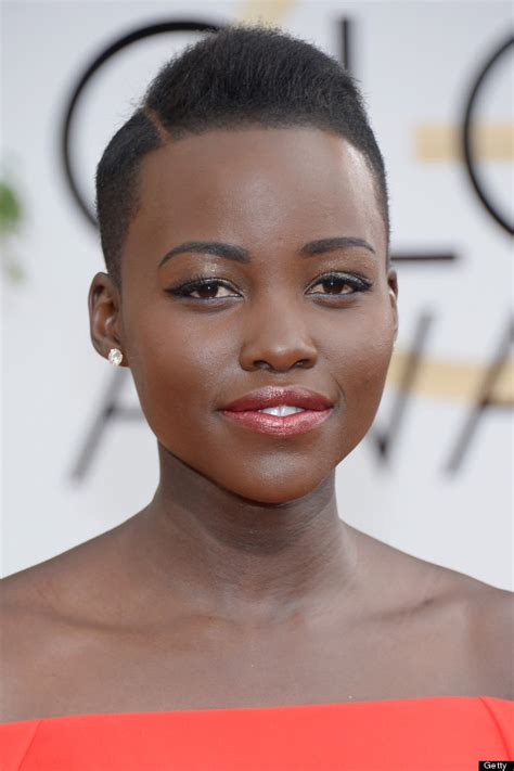 Get Lupita Nyong?o Natural Golden Globe look / Como lograr
