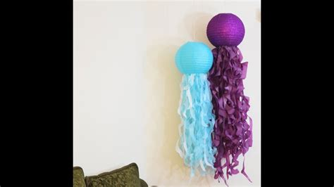 how to make jellyfish paper lantern tutorial