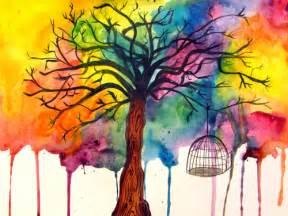art paint tree image 361570 on favim com