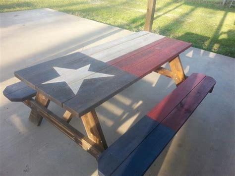 texas flag picnic table gettin crafty pinterest