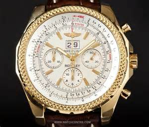 Gold Breitling Bentley Breitling 18k Yellow Gold White Bentley 6 75 K44362