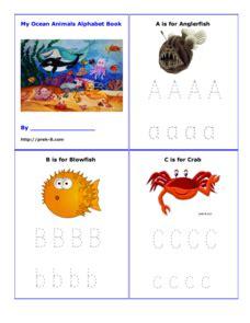 printable ocean alphabet book my ocean animals alphabet book printables template for