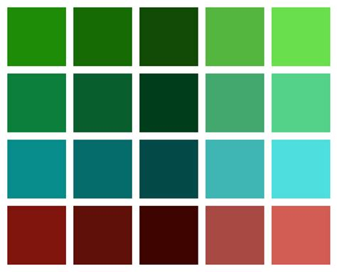 green palette colors endearing 25 green color schemes decorating design of