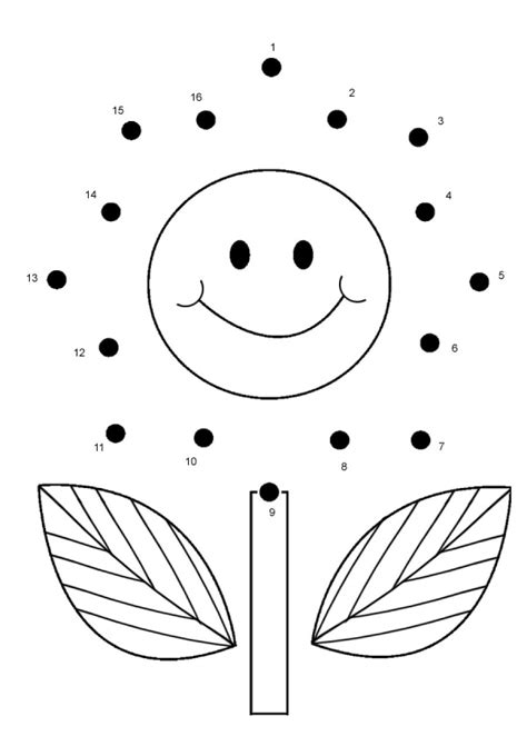 FREE Flower Connect the Dots | Dot to dot printables