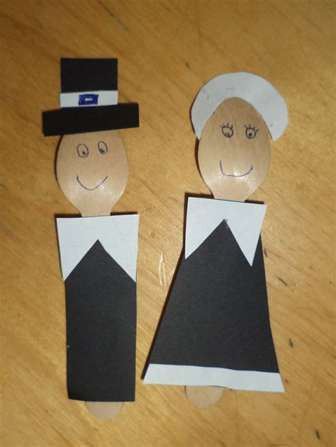 pilgrim crafts for preschool crafts for thanksgiving spoon pilgrims craft