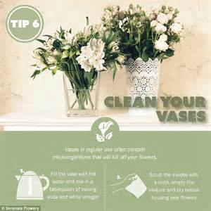 What Makes Roses Last Longer In A Vase by Simple Tips To Make Fresh Cut Flowers Last Longer Daily Mail