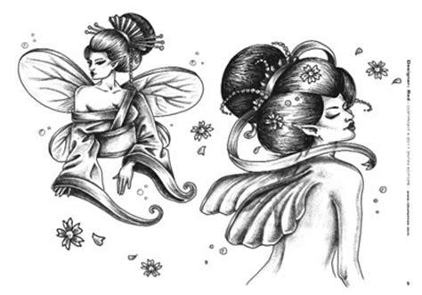 tattoo geisha bianco e nero geisha