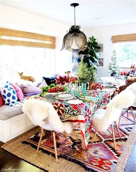 boho chic home decor 39 original boho chic dining room designs digsdigs