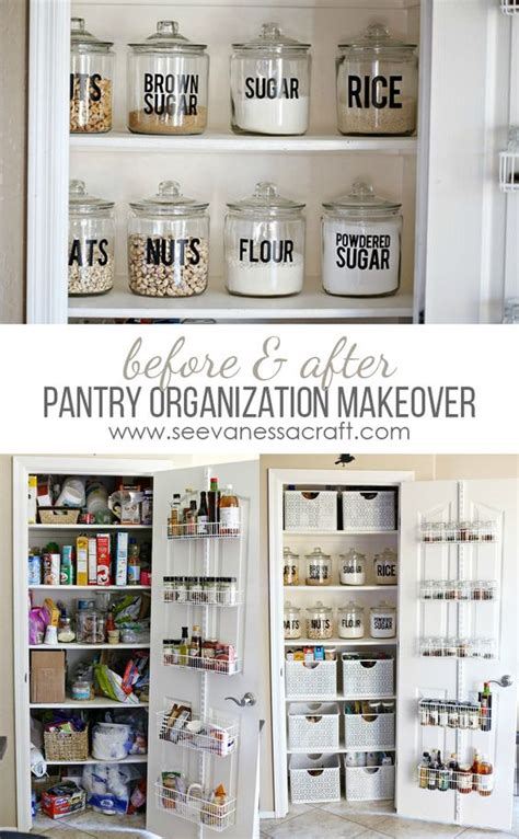 organize apartment kitchen small pantry organization makeover before after