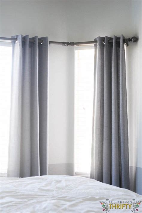 corner window curtain pole 1000 ideas about corner window curtains on pinterest