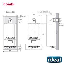 ideal logic combi 35 boiler clock and flue kit mr central heating