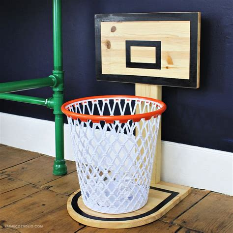diy basketball hoop trash  jaime costiglio