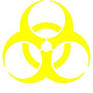 file biohazard symbol yellow svg wikimedia commons