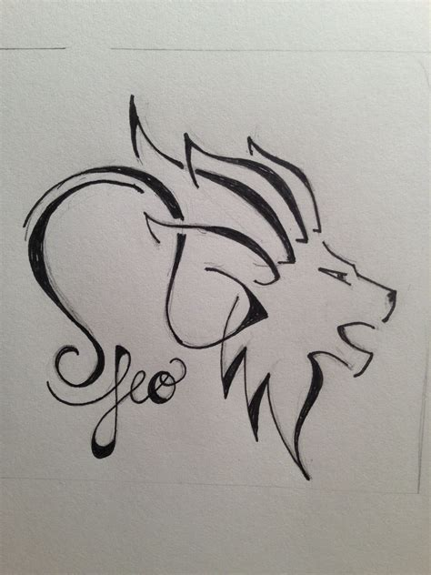 leo sign tattoos leo for zodiac custom designs black and