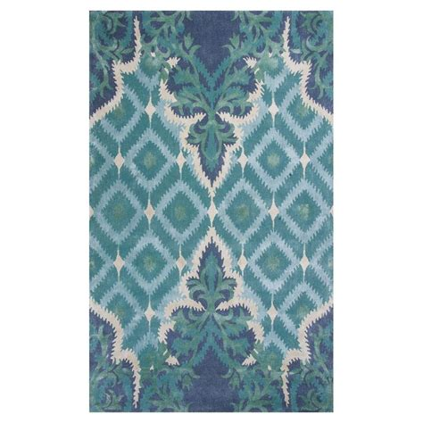kas rugs kas rugs bob mackie home blue green opulence 9 ft x 13 ft area rug bmh10079x13 the home depot