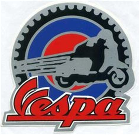 Vespa Piaggio 06 Logo Sticker Motor vespa script mod symbol sticker vespa and lund