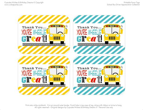 driver thank you card template free printables school driver appreciation